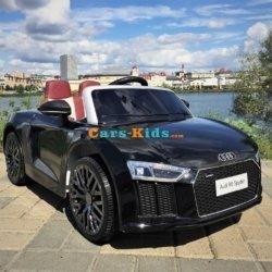 Электромобиль Audi R8 (колеса резина, сиденье кожа, музыка, пульт, глянцевая покраска)